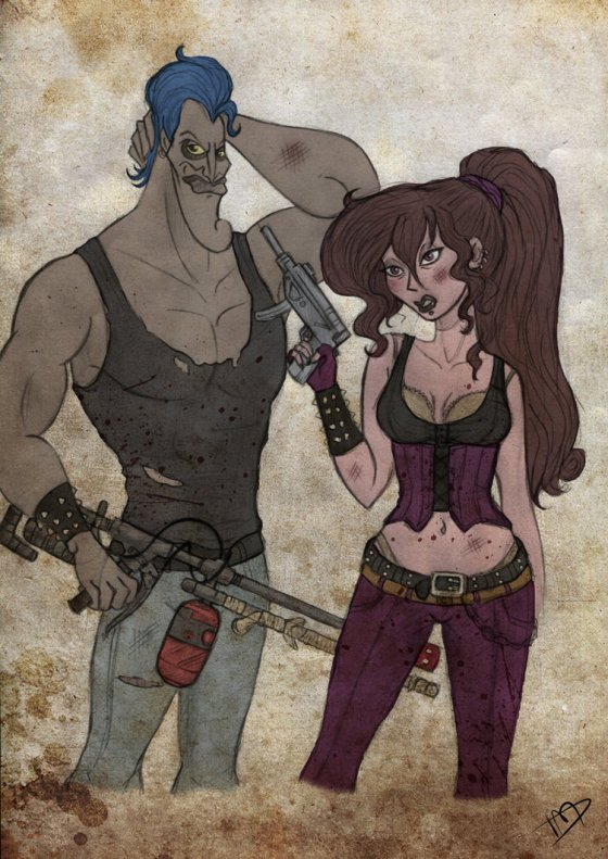 "Hades and Megara from ""Hercules"" - I know I wanted  Hell on Earth, but this is a bit extreme even for me!"