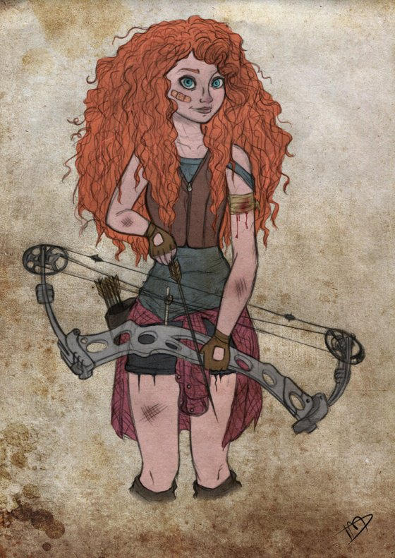 "Merida from ""Brave"" - notice ye never see any zombies wearin' kilts! Erin go Bragh!"